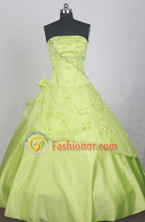 Beautful Ball Gown Strapless Strapless  Floor-length Spring Green Quinceanera Dress LZ426035