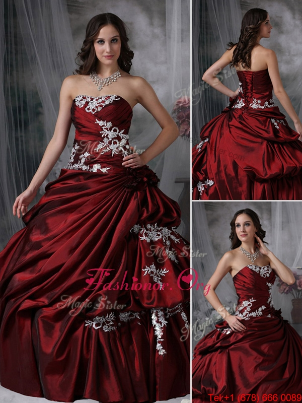 fbc61b5c3dc5 2016 Luxurious Ball Gown Strapless Appliques Quinceanera Dresses  JMCHSD083101AFOR