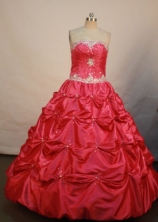 Elegant Ball gown Strapless Floor-length Quinceanera Dresses Appliques with Beading Style FA-Z-0085