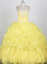 Popular Ball gown Strap Floor-length Quinceanera Dresses Style FA-W-r95
