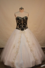Wonderful A-line Sweetheart Floor-length Quinceanera Dresses Appliques with sequins Style FA-Z-0088