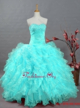 2015 Pretty Sweetheart Beaded Quinceanera Dresses in Organza SWQD002-8FOR
