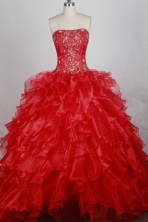 Beautiful Ball gown Strapless Floor-length Quinceanera Dresses Style FA-W-r47