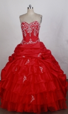 Beautiful Ball gown Sweetheart-neck Chapel Train Quinceanera Dresses Style FA-W-r38