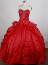 Gorgeous Ball gown Sweetheart Sweep Train Quinceanera Dresses Style FA-W-r60