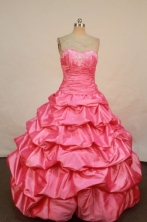 Elegant Ball Gown Sweetheart Floor-length Quinceanera Dresses Appliques Style FA-Z-0216