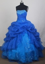 2012 Popular Ball Gown Strapless Floor-Length Quinceanera Dresses Style JP42653