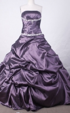 Affordable Ball Gown Strapless Floor-length Quinceanera dress Style X042495