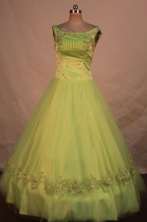 Lovely Ball gown Scoop neck Floor-Length Quinceanera Dresses Style FA-Y-17