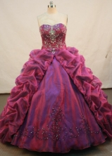 Luxurious Ball gown Sweetheart-neck Floor-length Quinceanera Dresses Style FA-C-022