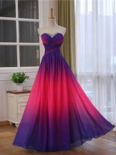 High Quality Floor Length Multi-color Prom Evening Gown Sweetheart Sleeveless Lace Up