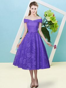 Fantastic Cap Sleeves Bowknot Lace Up Damas Dress