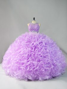 Most Popular Floor Length Ball Gowns Sleeveless Lavender Vestidos de Quinceanera Zipper