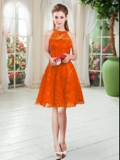 Sweet Scoop Sleeveless Prom Gown Lace Zipper