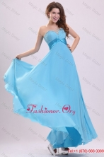 Baby Blue Sweetheart Beading and Ruching Chiffon Prom Dress FFPD0507FOR