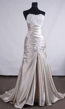 Beautiful A-line Sweetheart Brush Taffeta Grey Prom Dresses Appliques with Beading Style FA--00134
