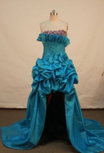 Beautiful A-line Strapless Chapel Prom Dresses Beading Style FA-Z-00163