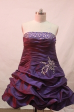 Beautiful A-line Strapless Mini-length Short Prom Dresses Appliques with Beading Style FA-Z-00136
