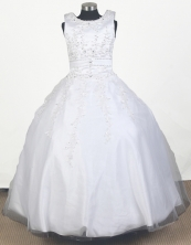 2012 Perfect Ball Gown Scoop Floor-length Little Gril Pagant Dress  Style RFGDC065