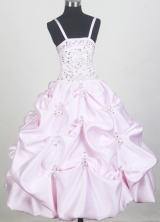 2012 Sweet Ball Gown Spaghetti Straps Floor-length Little Gril Pagant Dress Style RFGDC081