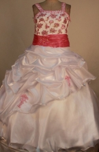 Elegant Ball gown Square neck Floor-Length Little Girl Pageant Dresses Style FA-Y-359