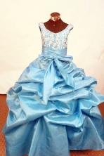 Simple Ball Gown Scoop Neck Floor-Length Little Girl Pageant Dresses Style FA-Y-302