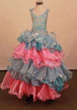 Sweet Ball gown Scoop neck Floor-Length Little Girl Pageant Dresses Style FA-Y-357