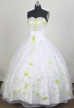 Modest Ball gown Strapless Sweetheart Floor-length Quinceanera Dresses Style FA-W-r08