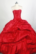 Popular Ball gown Strapless Floor-length Quinceanera Dresses Style FA-W-r68