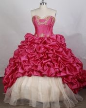 Pretty Ball gown Sweetheart-neck Sweep Train Quinceanera Dresses Style FA-W-r45