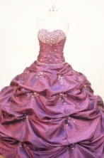 Affordable Ball Gown Sweetheart Floor-length Quinceanera Dresses Beading Style FA-Z-0227