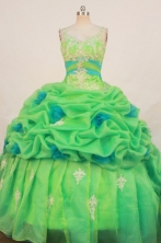 Cute Ball Gown Strap Floor-length Quinceanera Dresses Appliques with Beading Style FA-Z-0183