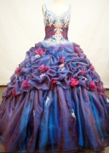 Exquisite Ball Gown Strap Floor-length Organza Quinceanera Dresses Style FA-C-012