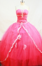 Formal Ball gown Strapless Floor-Length Quinceanera Dresses Style FA-Y-136