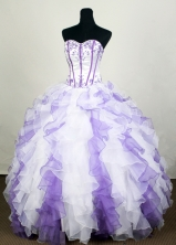 2012 Romantic Ball Gown Sweetheart Floor-length  Quinceanera Dress LHJ42710