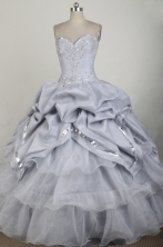Gorgeous Ball Gown Sweetheart Neck Floor-length Gary Quinceanera Dress LZ426018
