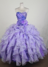 Gorgeous Ball Gown Sweetheart Neck Floor-length Lavender Quinceanera Dress LZ426042