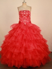 Luxurious Ball Gown Strapless Floor-Length Hot Pink Beading Quinceanera Dresses Style FA-S-211