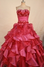 Luxurious Ball Gown Sweetheart Floor-length Quinceanera Dresses Appliques Style FA-Z-0332