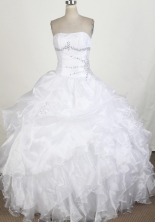 Perfect Ball Gown Strapless Floor-length Quinceanera Dress ZQ12426057