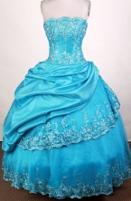 Popular Ball Gown Sweetheart Floor-length Aqua Blue Quinceanera Dress Y042620