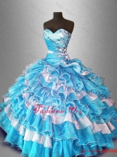 Ball Gown Popular Quinceanera Dresses with Beading and Ruffles SWQD028-2FOR