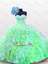 Luxurious Sweetheart Quinceanera Dresses with Appliques and Sequins for 2015 SWQD012-10FOR