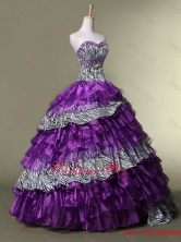 New Arrival Sweetheart Quinceanera Dresses with Ruffled Layers SWQD020FOR