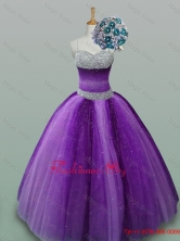 Popular Beaded Quinceanera Dresses in Spaghetti Straps for 2015 SWQD013-5FOR