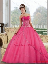 Dynamic Sweetheart Floor Length 2015 Quinceanera Gown with Appliques QDDTB36002FOR