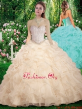 New Arrivals Sweetheart Champange Sweet 16 Dresses with Beading SJQDDT289002FOR