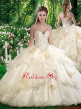 Romantic Ball Gown Sweet 16 Dresses with Beading and Appliques SJQDDT281002FOR