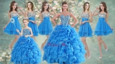 Customized Ball Gown Beaded Sweet 16 Gown and Sequined Short  Dama Dresses Ruffled Mini Quinceanera Dress LFY091906ZHTZ001-5FOR