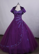Affordable Ball gown Sweetheart-neck Floor-length Quinceanera Dresses Style FA-C-080